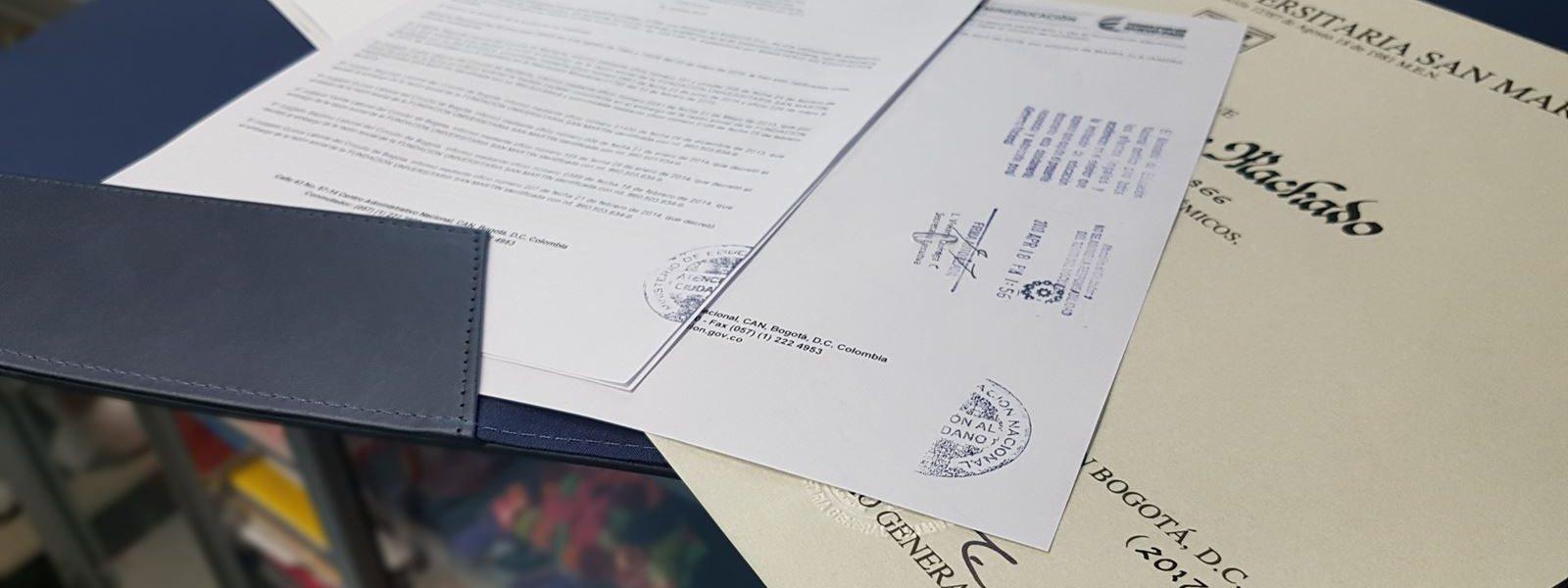 Legalización de documentos, ante diferentes entidades